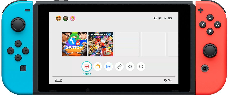 Nintendo Switch Menu HOME