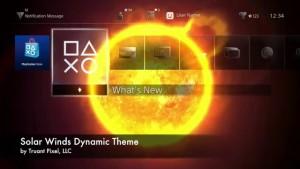 playstation 4 tema solar wind