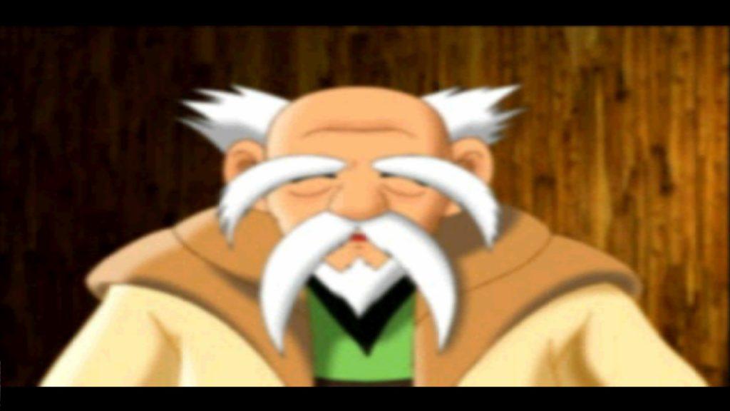 Il Vecchio Centenario, doppiato dalla voce di Aku Aku nei primi Crash Bandicoot Ciro Carraro)