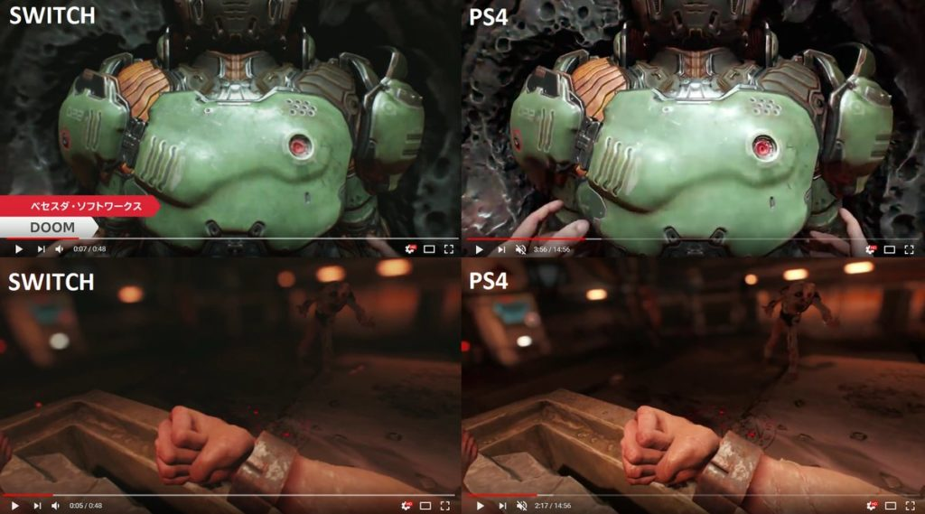 Confronto Doom Switch e PS4