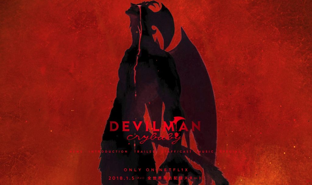 La copertina di Devilman Crybaby, ONA esclusiva Netflix