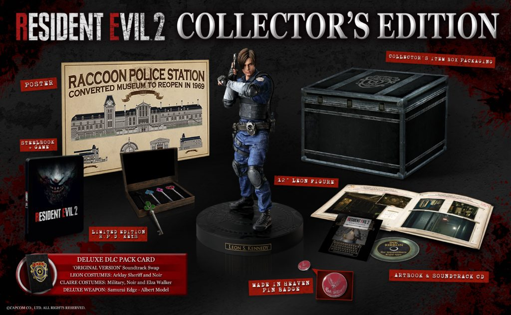 Resident Evil 2 remake limited edition