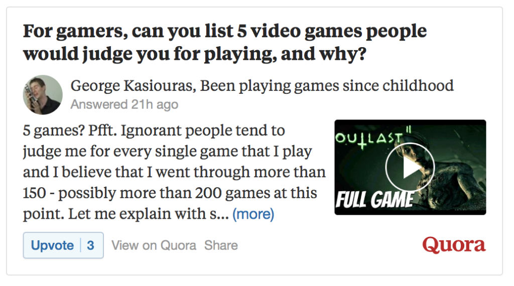 Quora Question