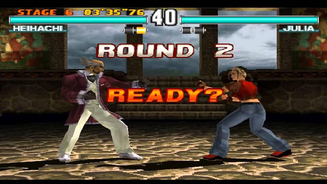 Schermata di un combattimento in Tekken 3.