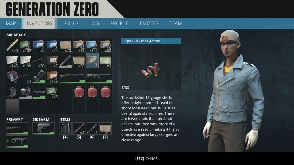 Generation Zero Inventory
