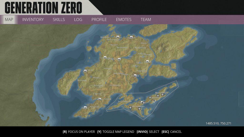 Generation Zero Map