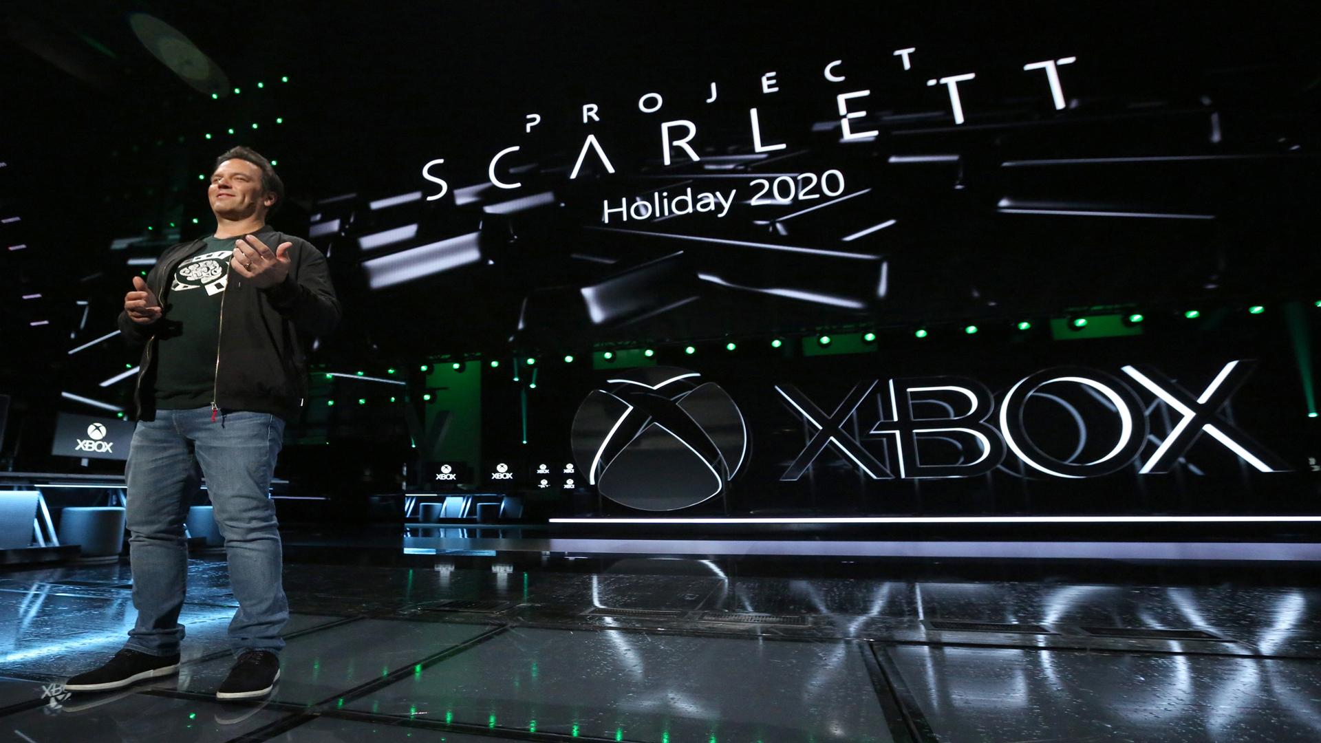Foto di Phil Spancer sul palco di Microsoft
