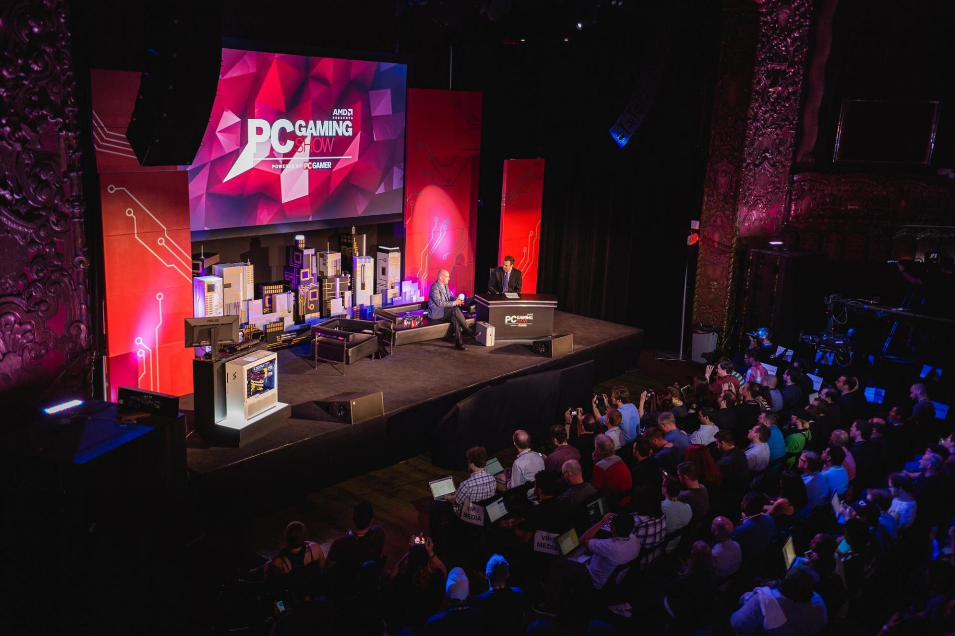Foto del palco del PC Gaming Show