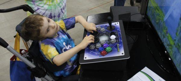 un videogiocatore disabile