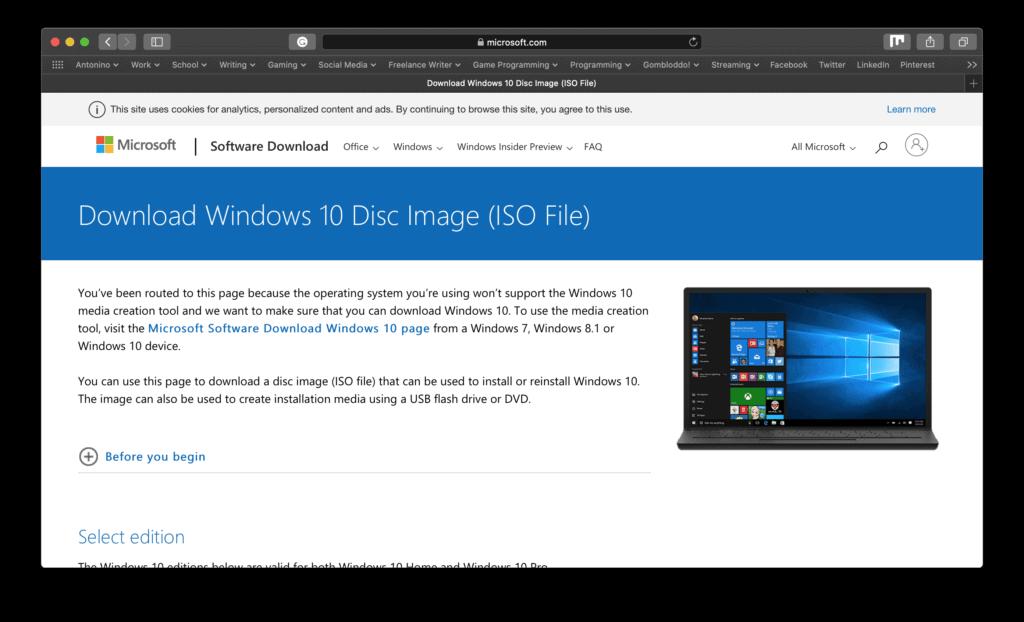 Microsoft ISO Windows 10