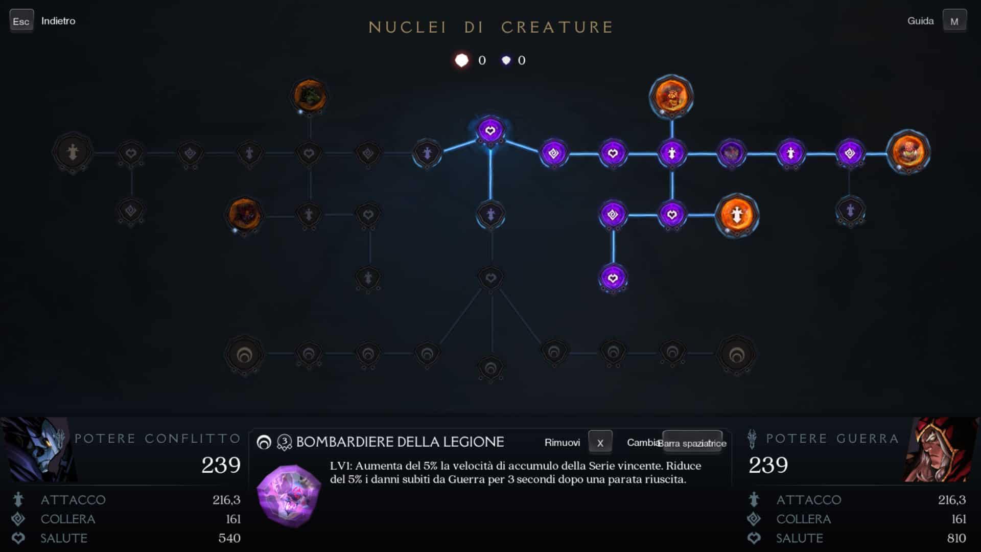 Albero delle abilità di Darksiders Genesis