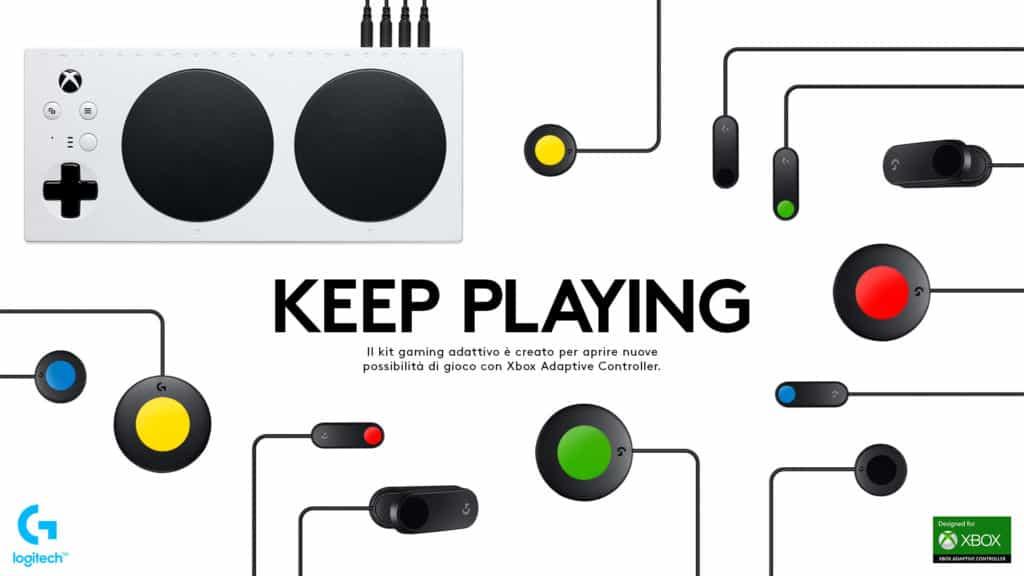 Il Kit Logitech Adaptive Gaming, pensato per gli utenti affetti da disabilità: i videogiochi sono per tutti