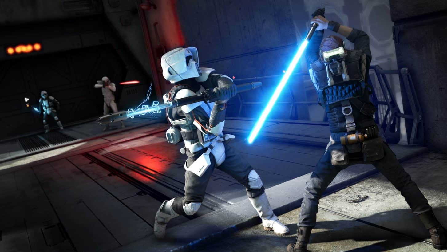 Combattimento tra Cal e uno Stormtrooper