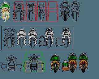 Gli sprite della versione SNES del videogioco di Akira
