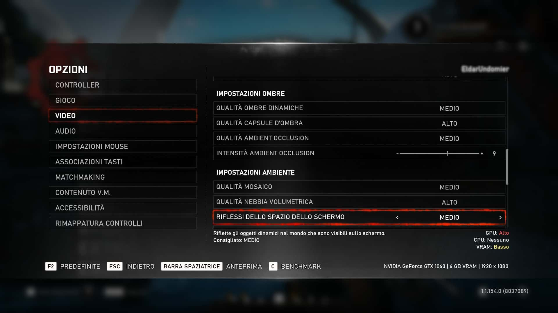 Settings grafici di Gears 5 per PC