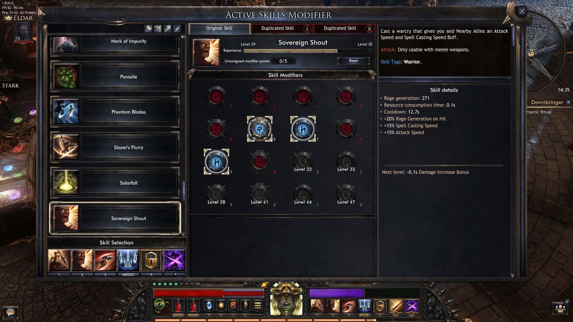 Wolcen: Lords of Mayhem abilità attive