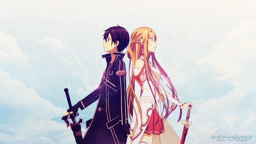 Kirito e Asuna di fianco