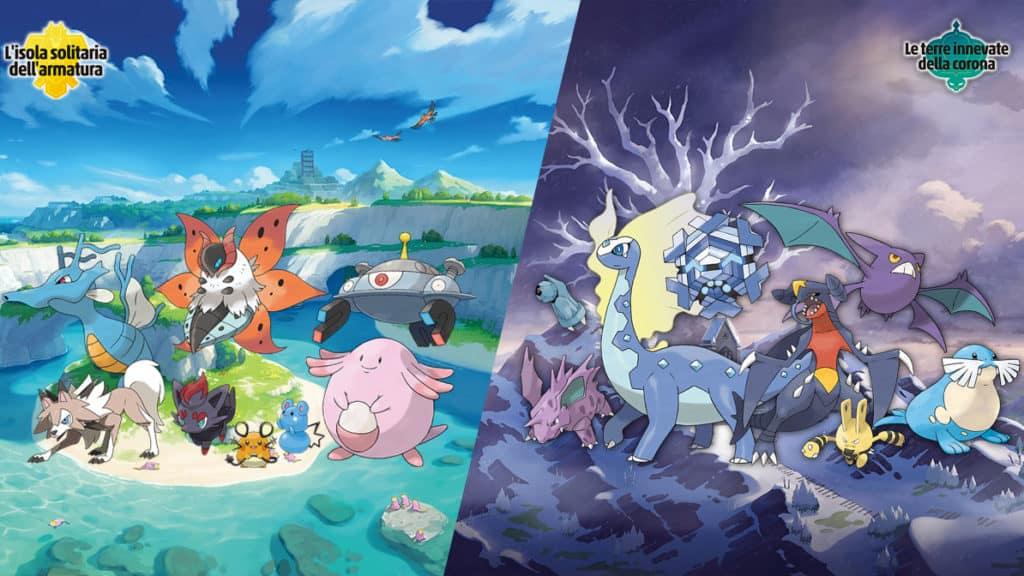 I Pokémon nuovi delle due espansioni