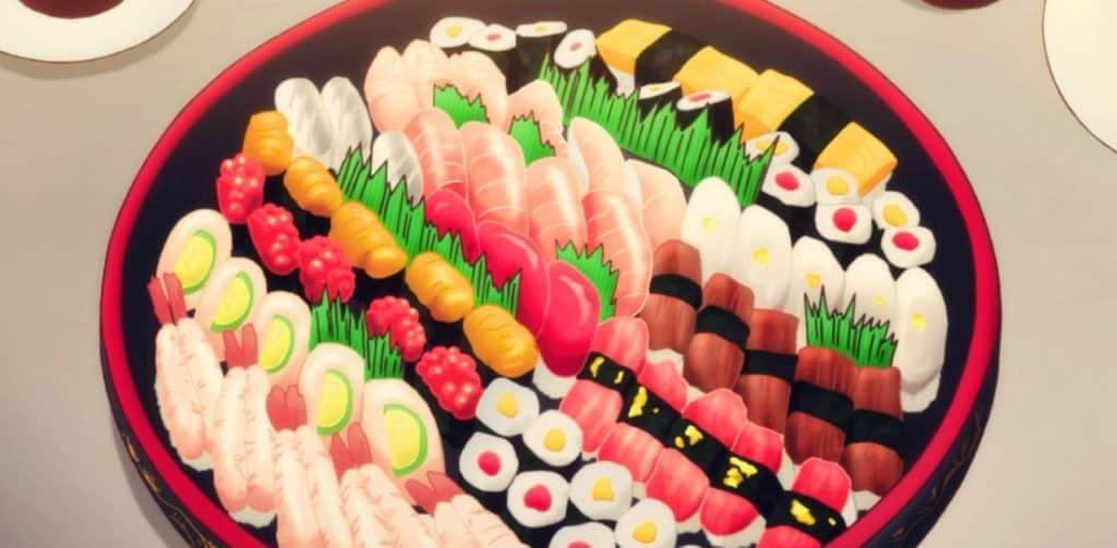 Un piatto  giapponese a base di pesce tratto da un anime