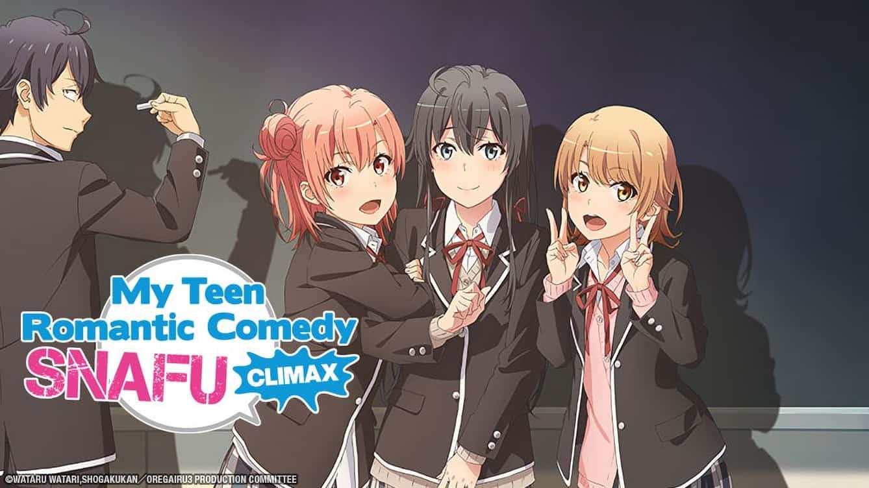 La copertina di Oregairu con i quattro personaggi principali
