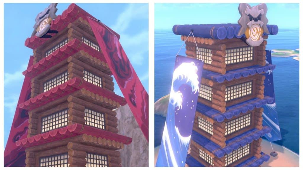 La Torre Acqua e la Torre Buio sono situate rispettivamente nella Spiaggia Sfida e nel Cammino Sfida.