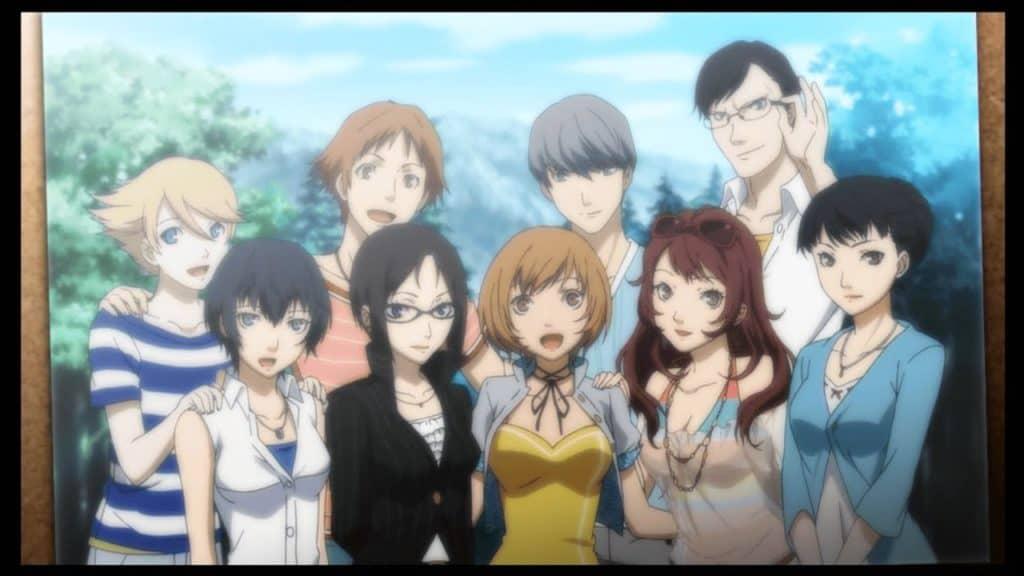 Tutto il party principale di Persona 4 Golden in una foto commemorativa