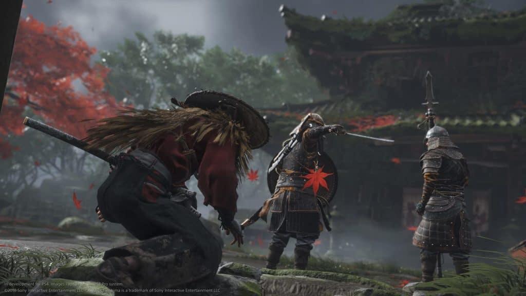 Jin prende dei mongoli di soppiatto in Ghost of Tsushima