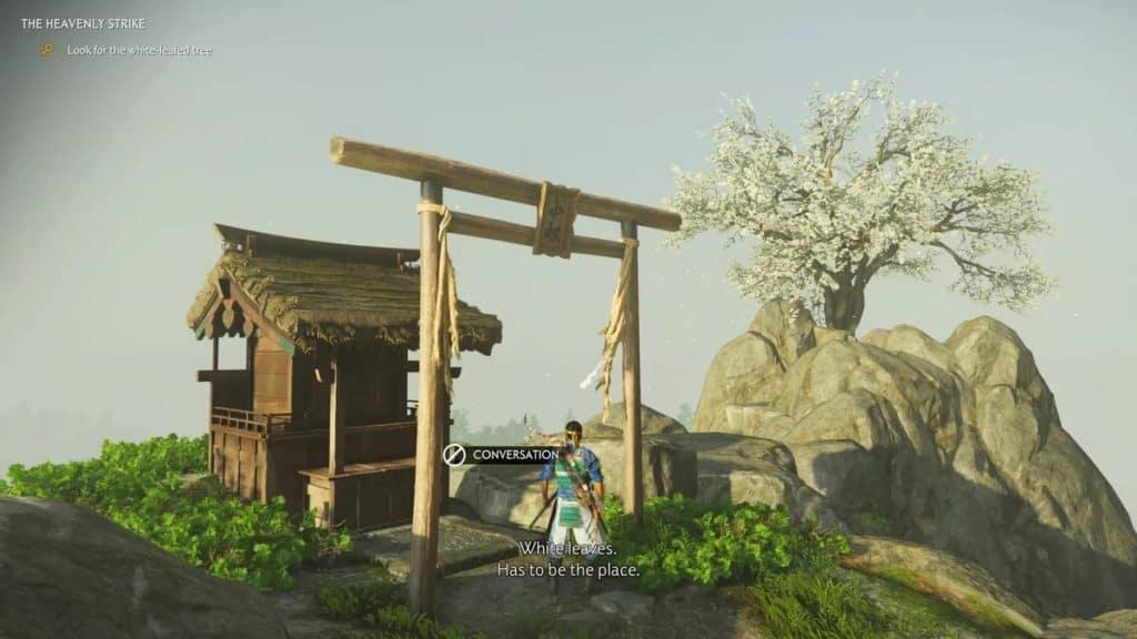 Jin raggiunge un santuario Shinto in un luogo solleggiato