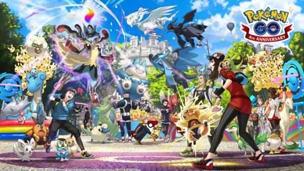 pokemon go 4 anniversario