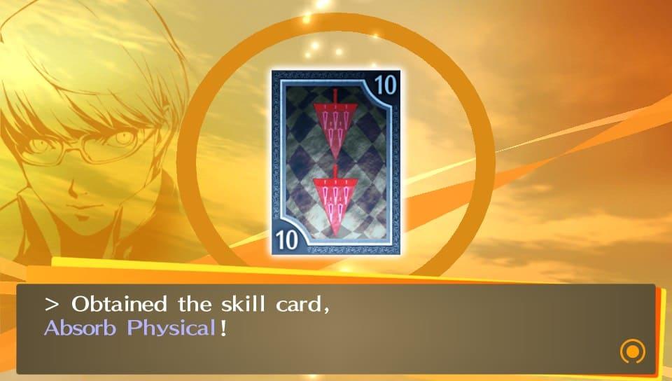 Skill Card ottenuta durante lo Shuffle Time