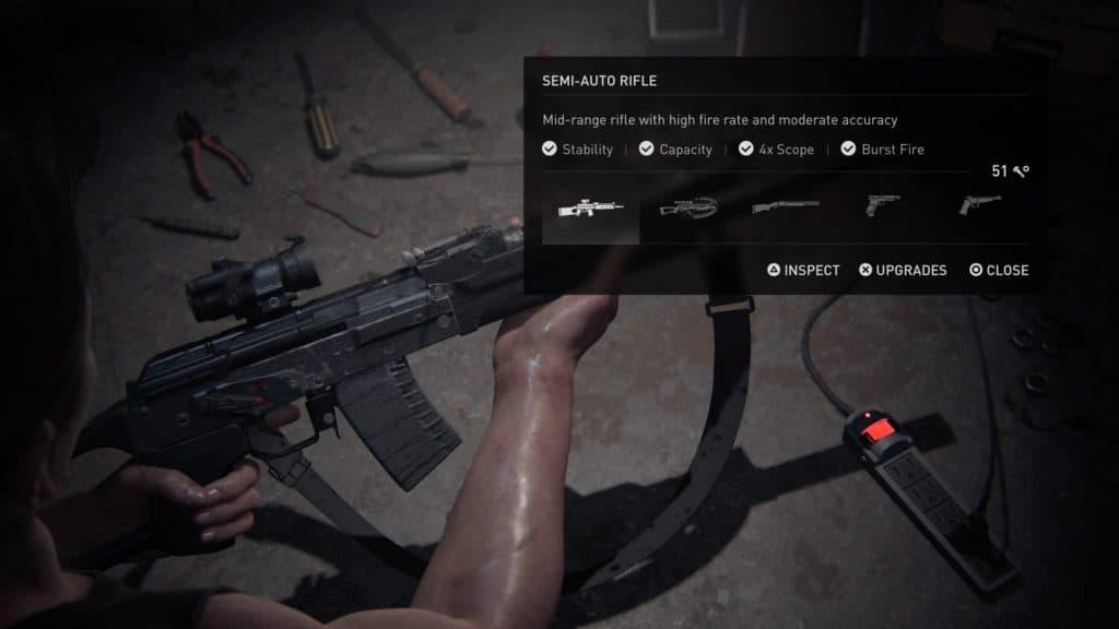 Il fucile semi-automatico, un'arma di The Last of Us II