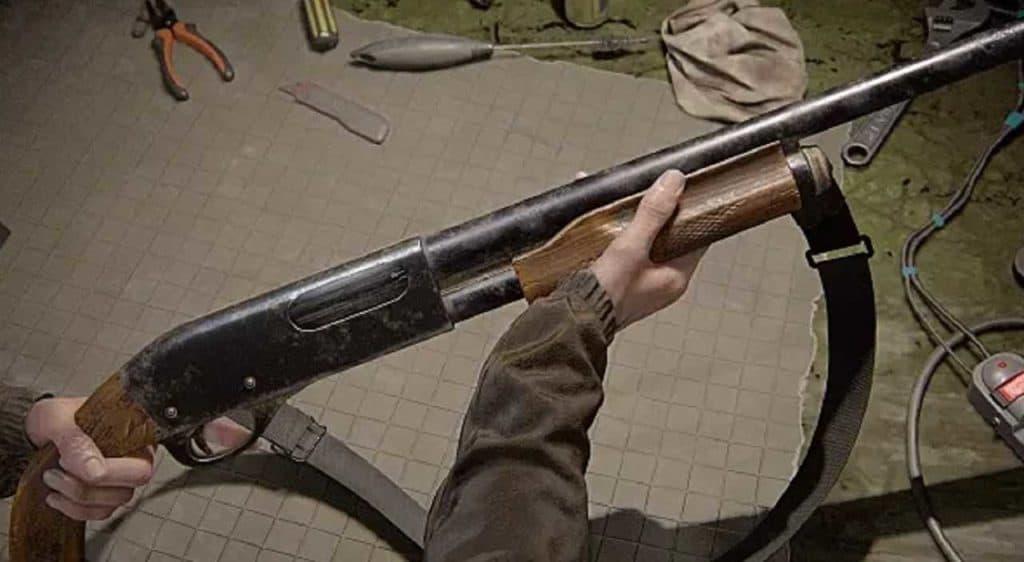Un fucile a pompa