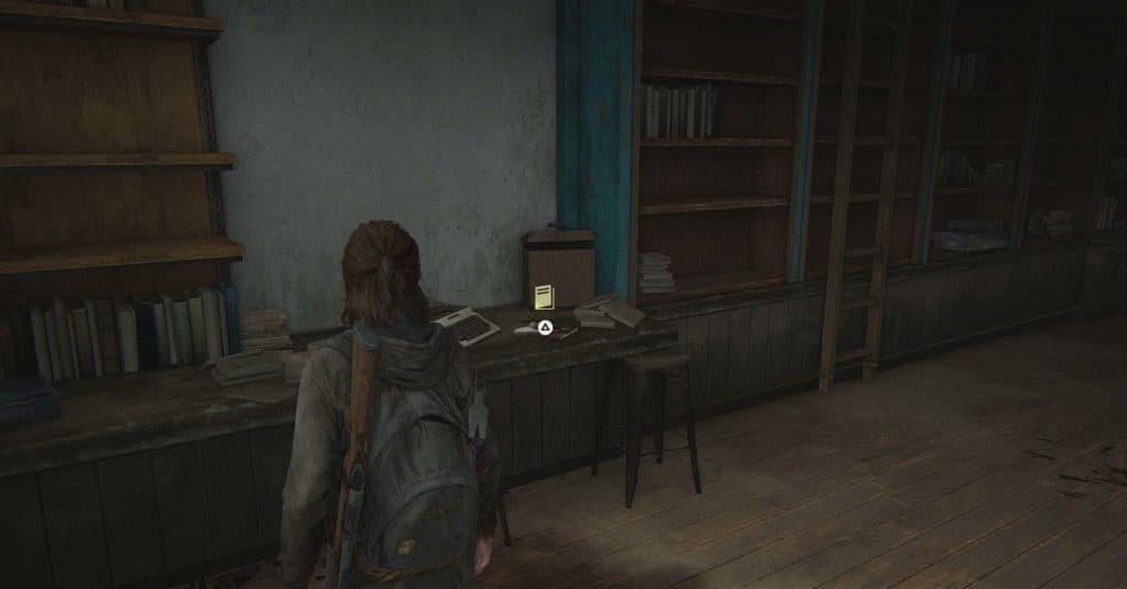 Ellie trova un manuale d'addestramento dentro una