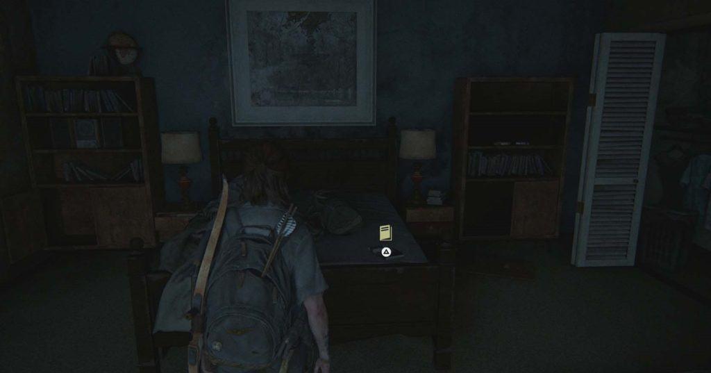 Ellie trova il manuale d'addestramento appoggiato su un tavolo