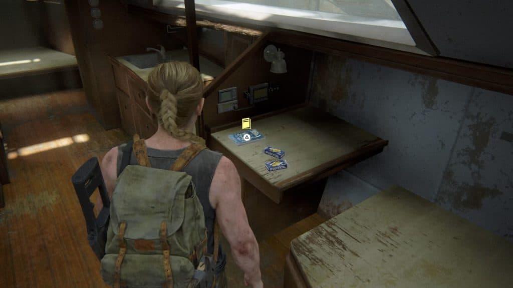 Abby trova un manuale d'addestramento su un tavolo