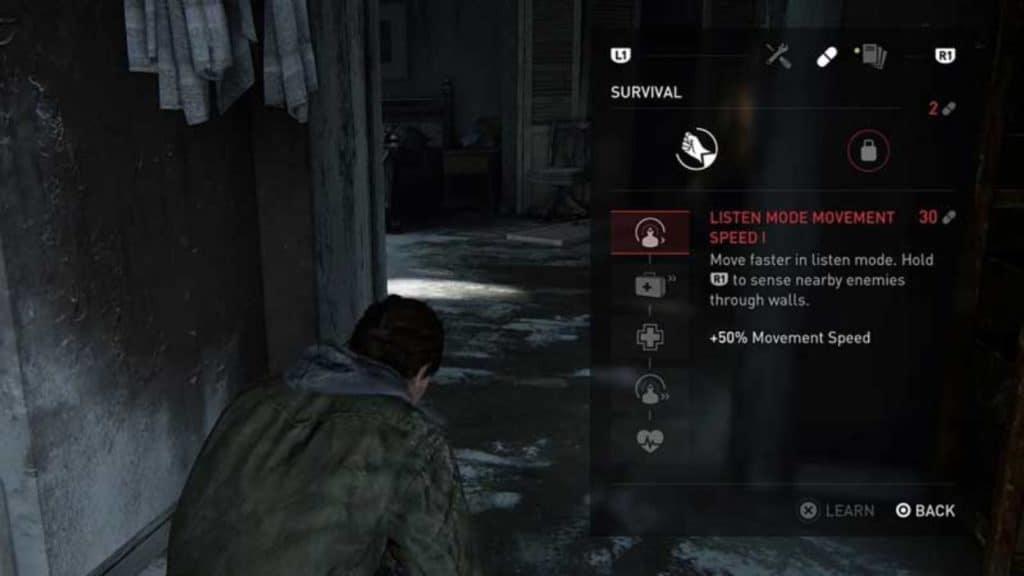 L'albero delle skill di The Last of Us II