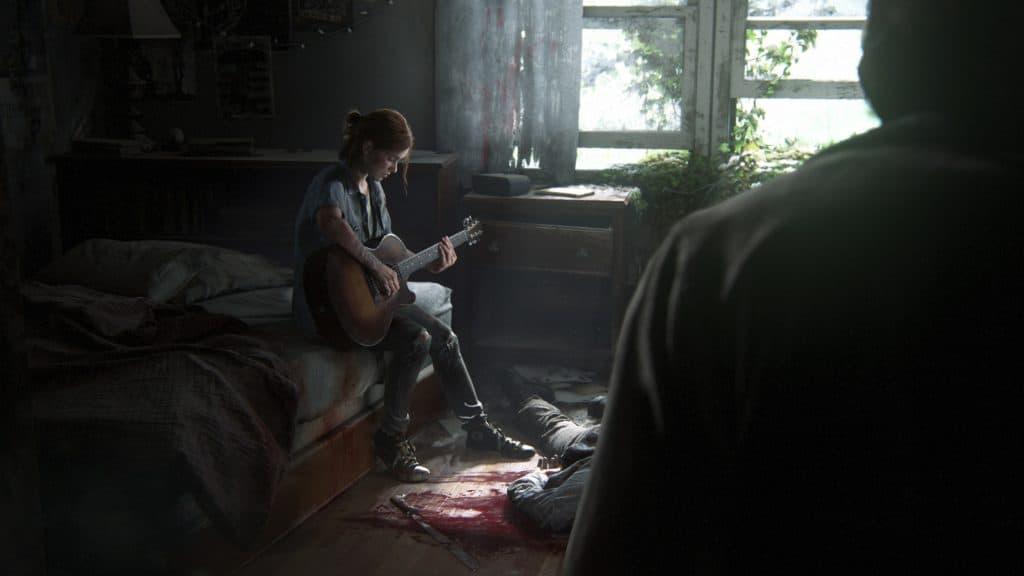 Ellie suona la sua chitarra in The Last of Us Parte II
