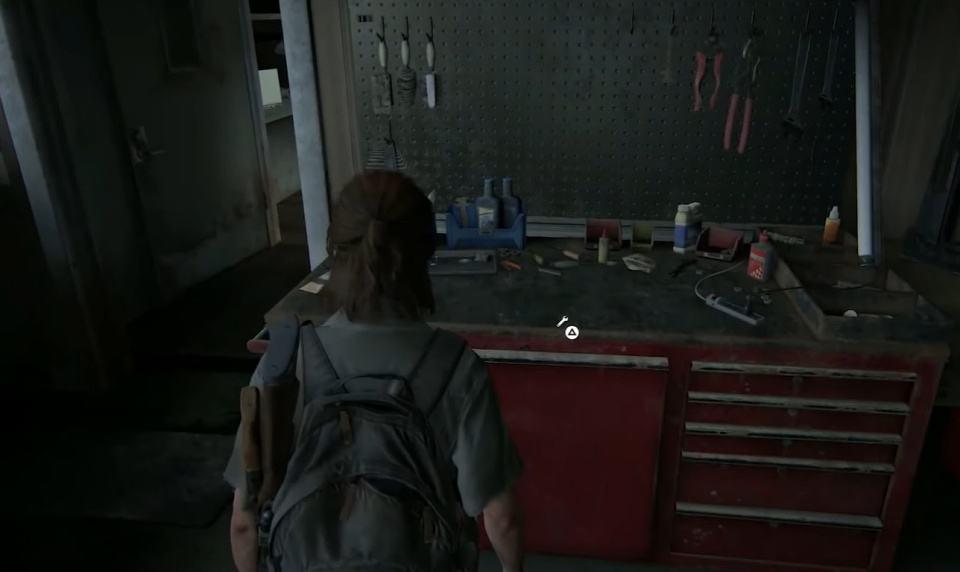 Ellie trova un altro banco da lavoro in The Last of Us 2