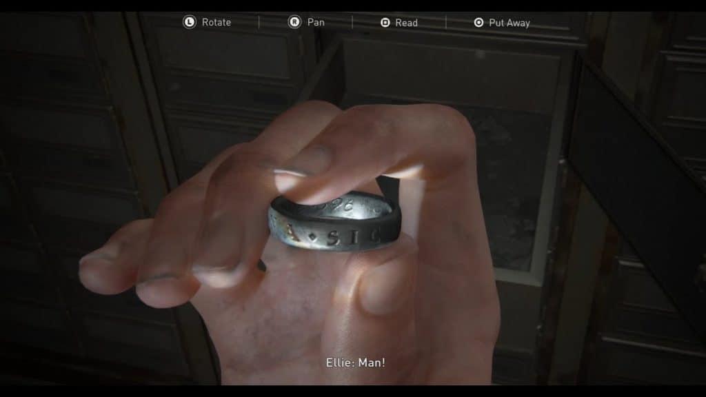 L'anello intagliato di Nathan Drake in The Last Of Us Parte II