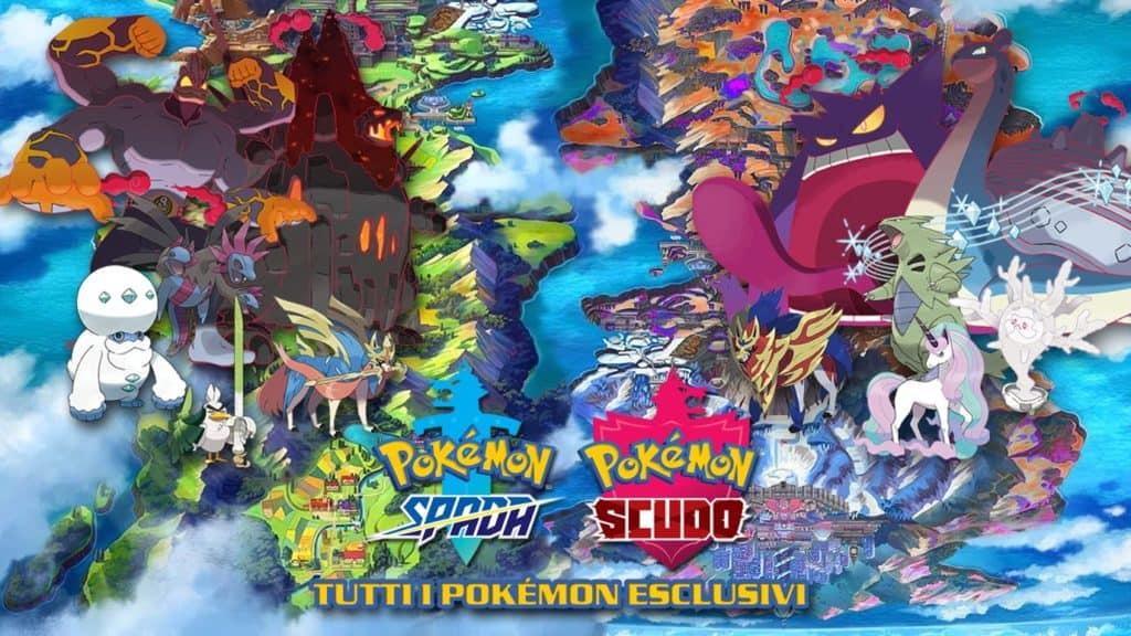I Pokémon esclusivi di Spada e Scudo