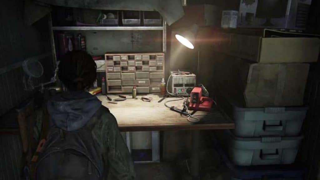 Un banco da lavoro in The Last of Us II