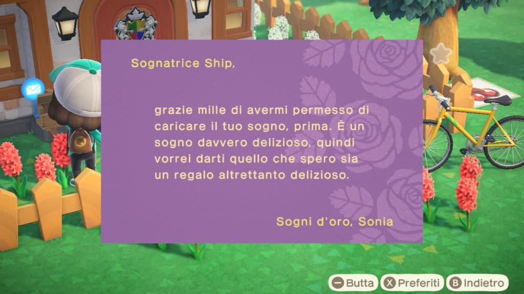 La seconda lettera di Sonia con allegato il coupon onirico
