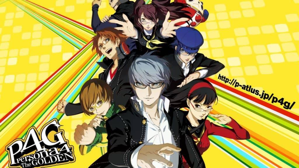 I protagonist di Persona 4 Golden stanno in posa in un'immagine promozionale del gioco