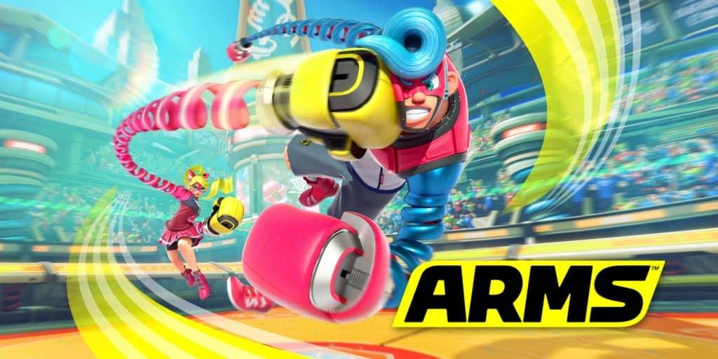 Due personaggi di Arms si colpiscono con le loro braccia estensibili