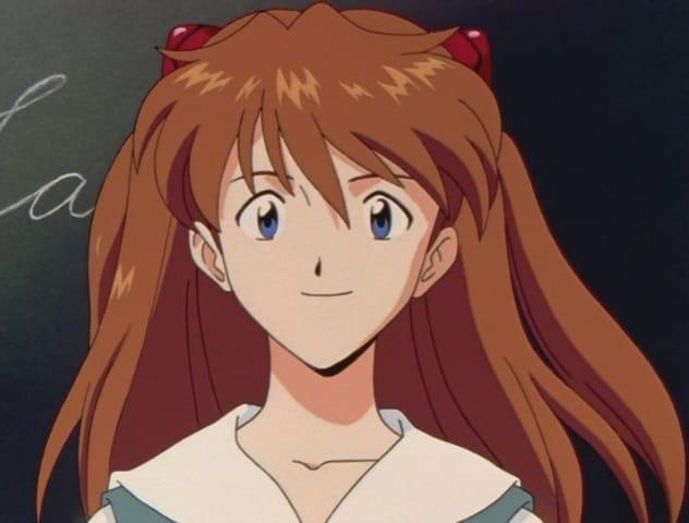 Asuka Soryu Langley da Neon Genesis Evangelion in primo piano