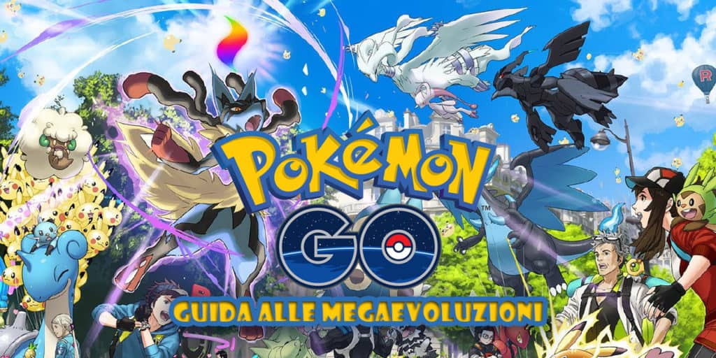 Mega Lucario, Reshiram e Zekrom con altri Pokémon di Pokémon GO