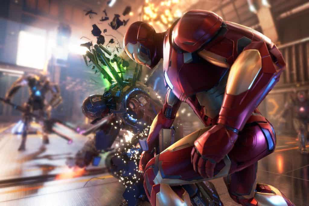 Iron Man colpisce con la testa un nemico