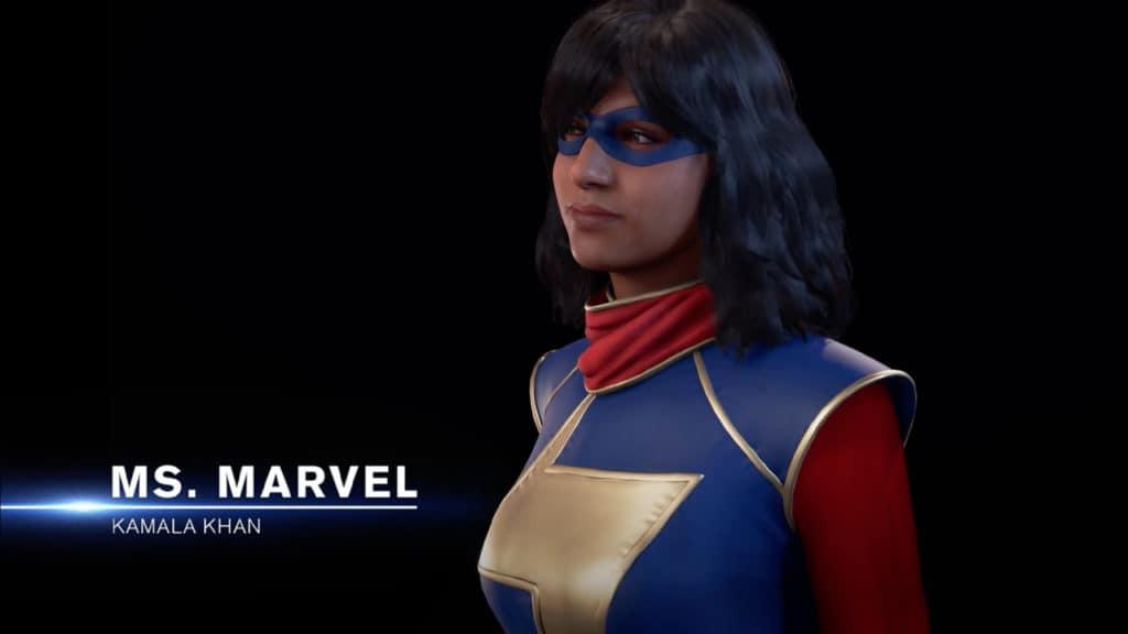 Ms. Marvel è vestita nel suo costume e pronta a combatteere