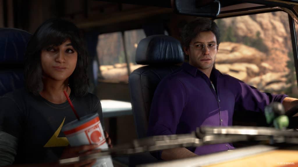 Kamala è in auto insieme a Bruce Banner