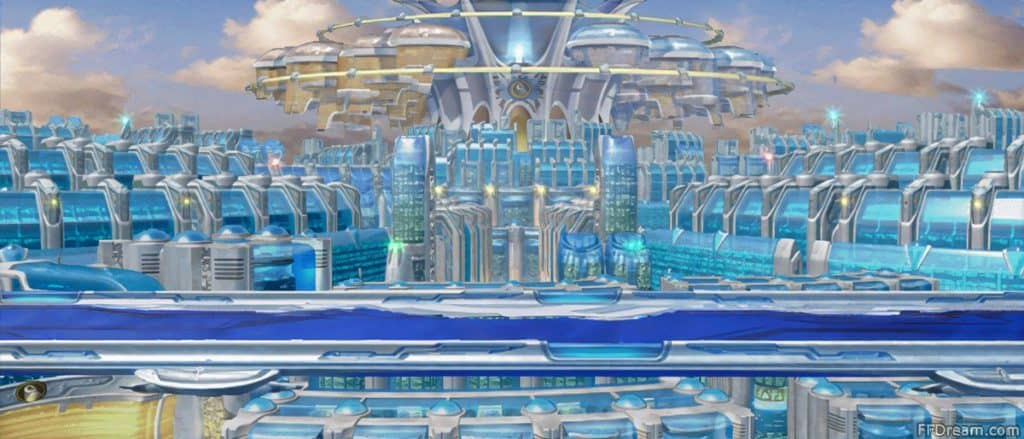 La citta di Eshtar con la sua infinita tecnologia.